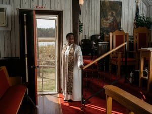Pastor Darlene Dixon of the New Revived United Methodist Church in Taylor's Island, Md. The church formerly was known as Jefferson Methodist Episcopal Church, and was established in Smithville in 1876.