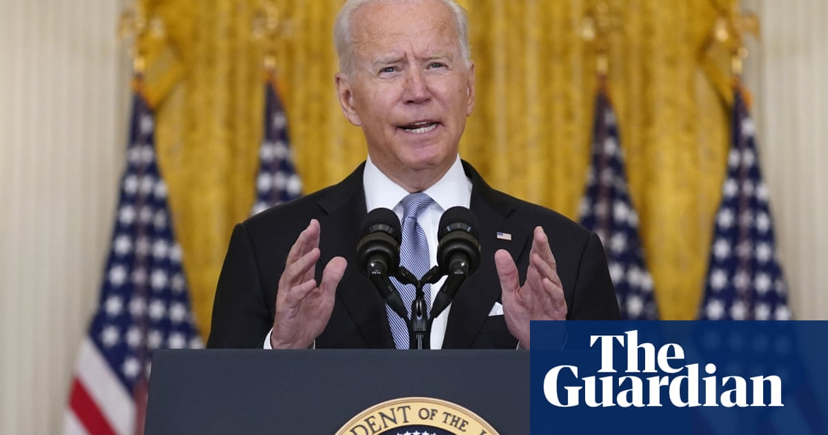 'I stand squarely behind my decision': defiant Biden defends withdrawal from Afghanistan –video