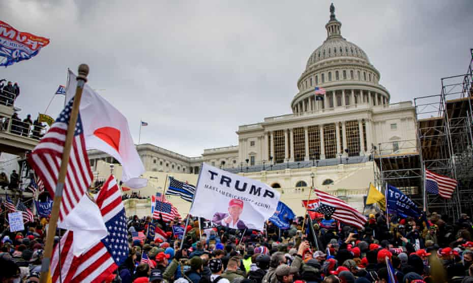 Trump supporters storm the US Capitol in January.