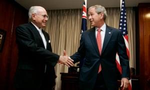 John Howard and George W Bush in 2007