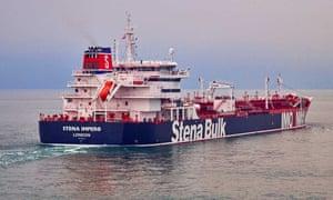 The seized British-flagged tanker Stena Impero