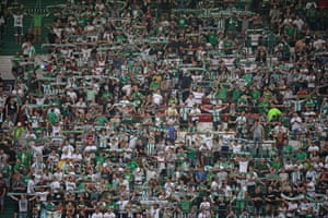 liamRapid Vienna fans before the Europa League group stage match against Genk.