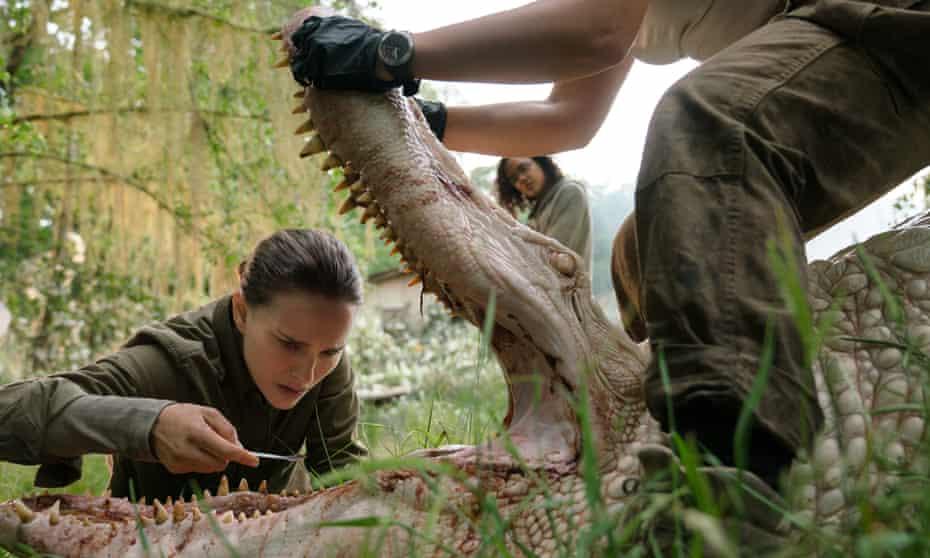 Unearthly horrors ... Natalie Portman in Alex Garland's Annihilation.