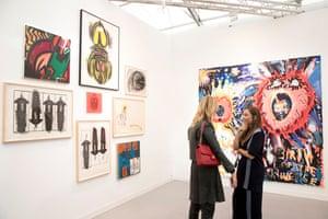 Judith Bernstein's work on display in 2017.