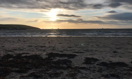 The beach at Scapa, Orkney