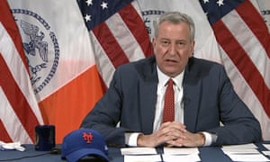 Bill de Blasio, New York City mayor, said the city will run out of Covid-19 vaccine doses next week without new supplies