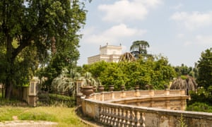 Villa Borghese, Rome, Italy. The view is of the Villa Pamphili.