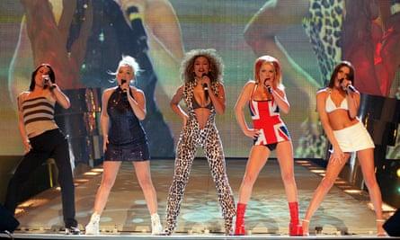 Mel B of the Spice Girls in leopard print