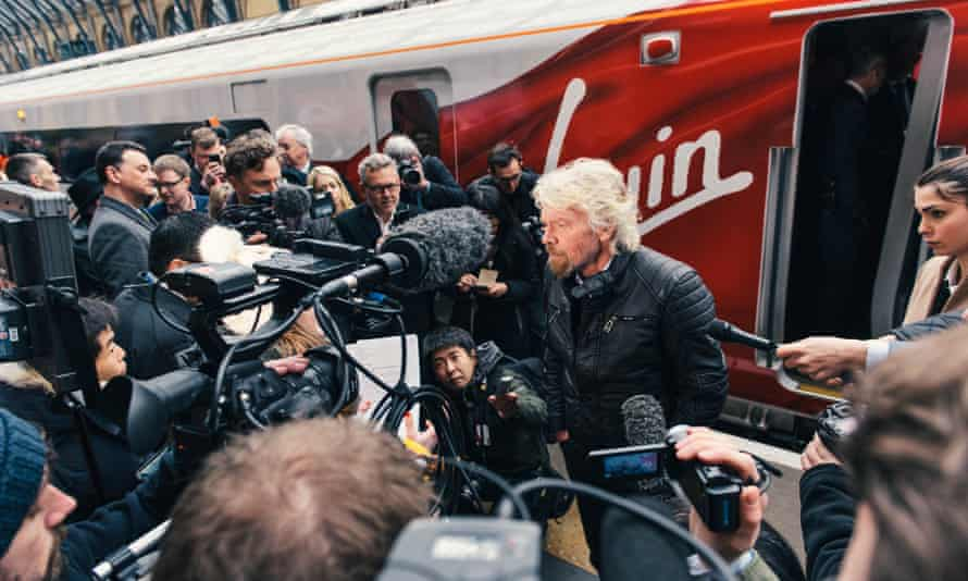 Sir Richard Branson unveils the new Virgin Azuma at King's Cross station