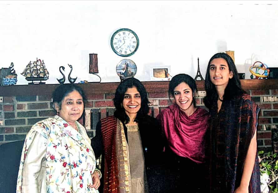 Sabiha Hussain, second from left, with her family.