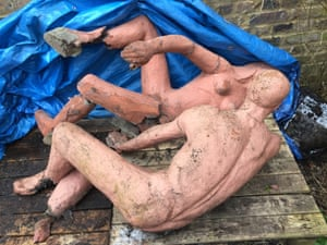 The Sunbathers by Peter Laszlo Peri, discovered at the Clarendon hotel, Blackheath, London, in February.