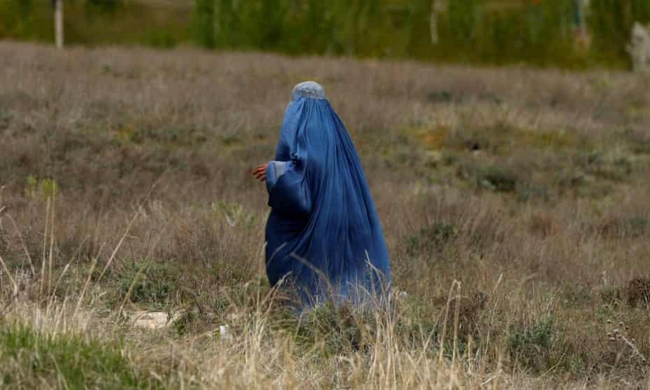 An Afghan woman on the outskirts of Kabul, Afghanistan