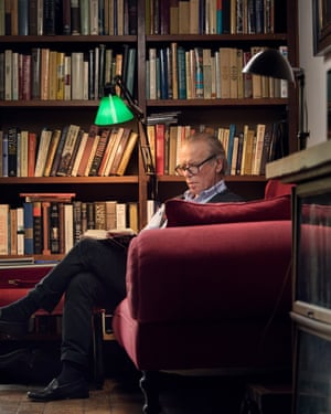 Martin Amis at his mother-in-law's house in Manhattan, August 2017