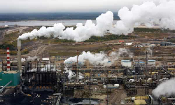 The processing facility at the Suncor tar sands operations near Fort McMurray, Alberta, Canada.