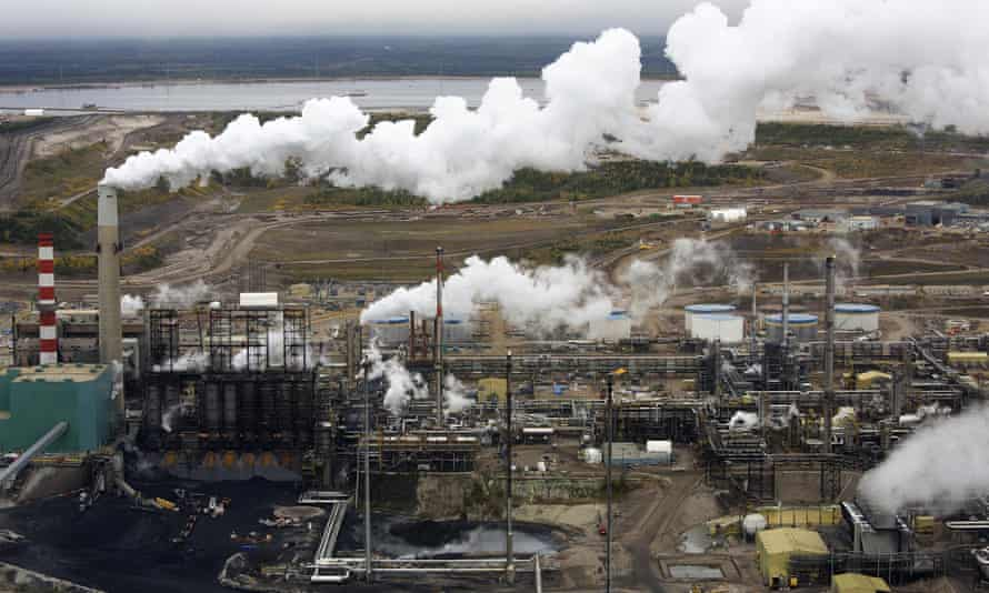 The processing facility at the Suncor tar sands operations near Fort McMurray, Alberta.