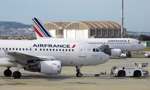 Air France planes at Marseille-Provence airport.