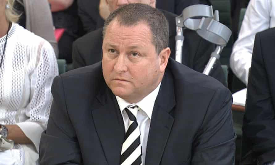 Mike Ashley, founder of sports clothing retailer Sports Direct, giving evidence to MPs on the business, skills and innovation parliamentary select committee