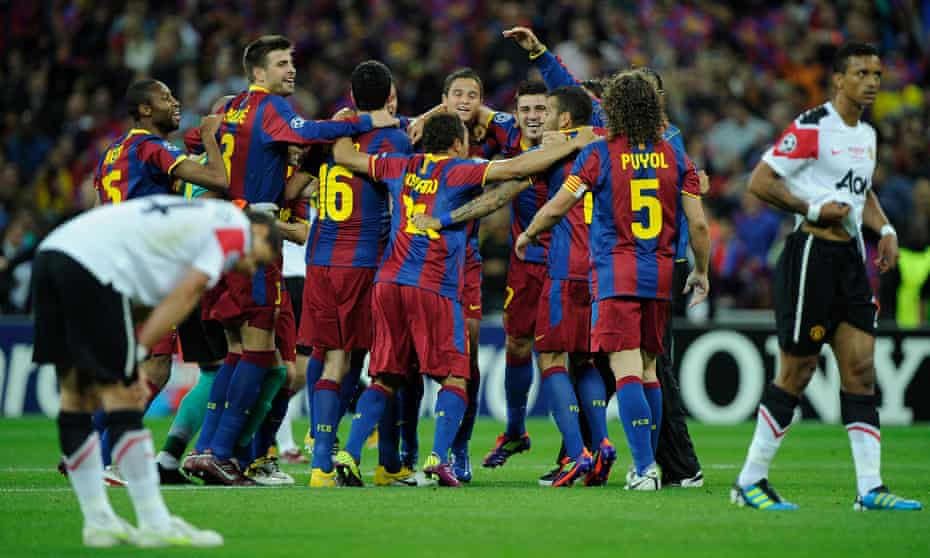 Barcelona enjoy their 2011 Champions League final win over Manchester United after an outstanding Guardiola-era display.