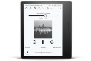 The Audible integration means Kindle Oasis users can listen to audiobooks via Bluetooth headphones or speakers.