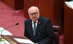 Attorney general George Brandis during question time in the Senate