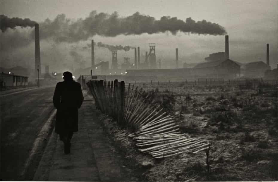 Early shift, West Hartlepool steelworks, County Durham, 1963.