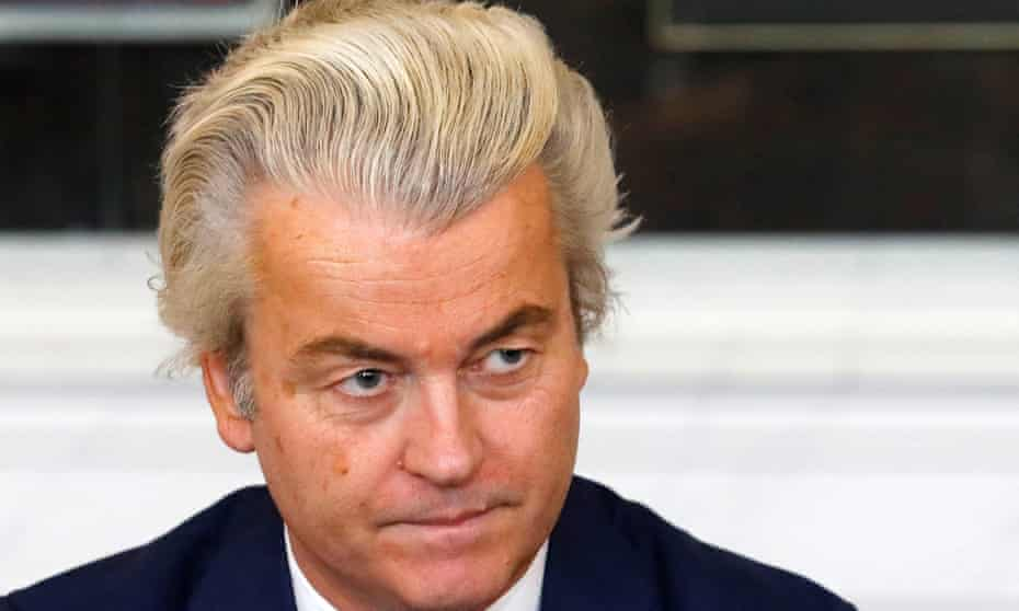 Geert Wilders, leader of the far-right Freedom party.