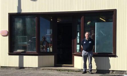 Peter Malone at General Merchants in Bettyhill