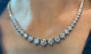 A diamond necklace stolen from the mansion in Hampstead, north London.