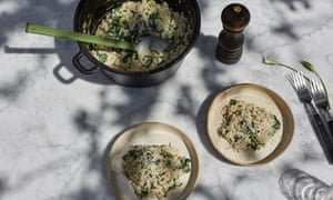Wild garlic orzotto