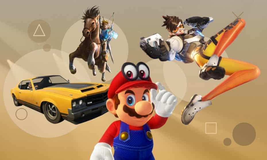 From left: GTA V, Legend of Zelda: Breath of the Wild, Super Mario Odyssey, Overwatch