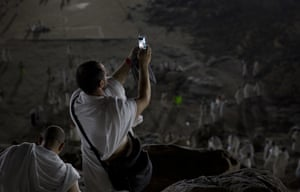 Mecca, Saudi ArabiaPilgrims record their visit to Mount Arafat during the annual Haaj