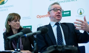 Minette Batters and Michael Gove at the Oxford Farming Conference