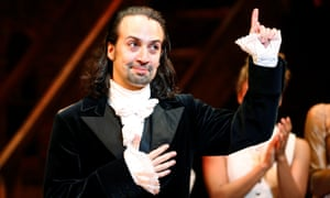 Lin-Manuel Miranda in his last performance with Hamilton in New York