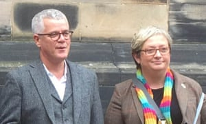 JO Maugham QC and SNP MP Joanna Cherry QC in front of the court of session in Edinburgh.
