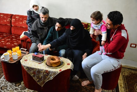 Celebrating his 16th birthday with family in Douma.