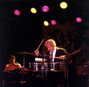 Latin Jazz musician Tito Puente in concert.