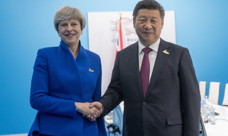 Theresa May with Chinese President Xi Jinping