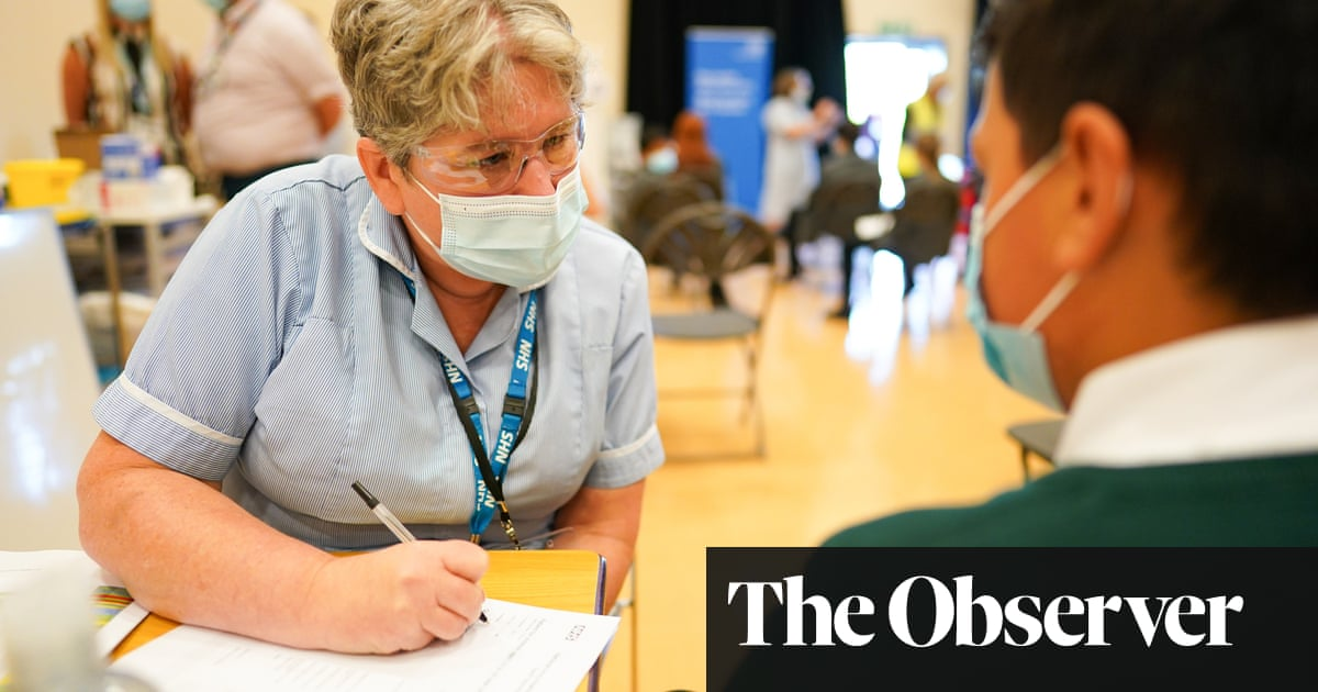 Concern over jab delay for pupils in England as age group cases soar