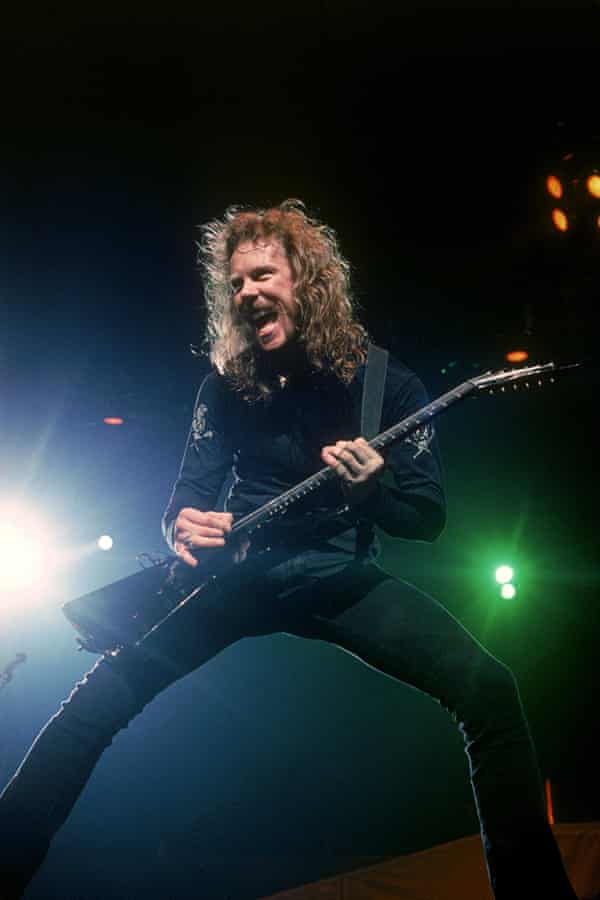 James Hetfield on stage in the 90s