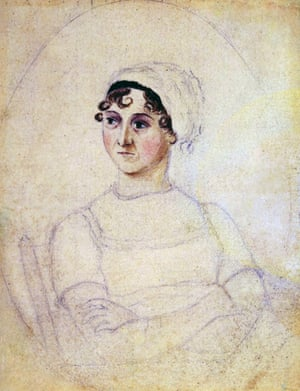 Colour portrait of Jane Austen drawn by her sister Cassandra, dated 1810.