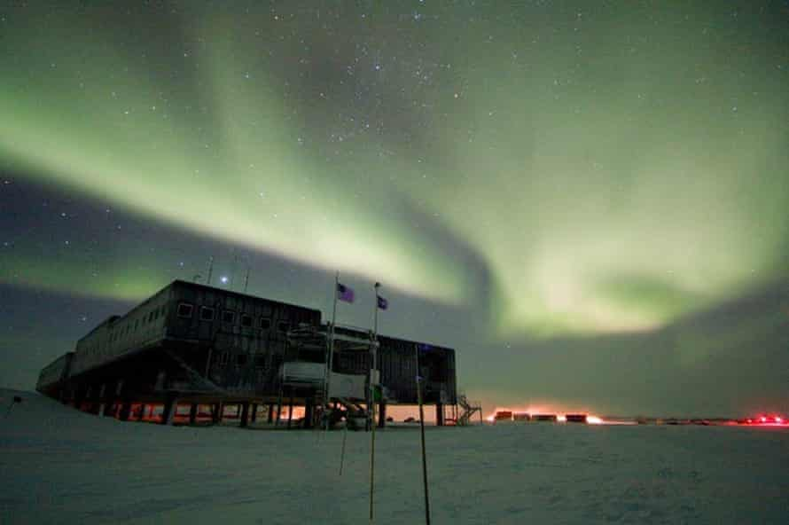 The temperature variability at the South Pole is so extreme it masks anthropogenic effects.