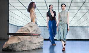 Models on the catwalk for the Eftychia spring/summer show in London