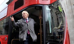 Boris Johnson aboard one of the capital's new buses