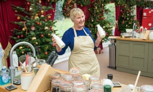 A lot of bottle: Val on The Great Christmas Bake Off.
