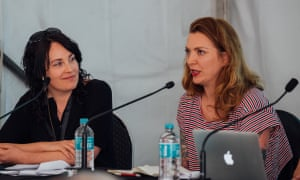 Kate Hennessy pictured with Dark Mofo curator Hannah Fox at Big Sound.