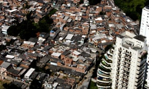An aerial view of Paraisópolis, the biggest favela in São Paulo