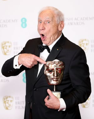 Mel Brooks with his Bafta fellowship