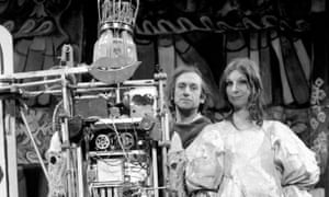 Bruce Lacey with his robot of Anne, Queen of France and his then wife and collaborator Jill Bruce.