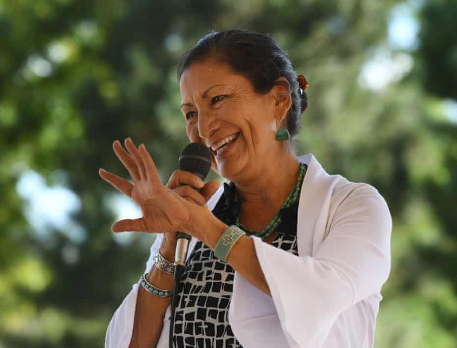 Deb Haaland is a citizen of the Pueblo of Laguna tribe.