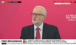 Jeremy Corbyn gives a speech in Lancaster on Friday.